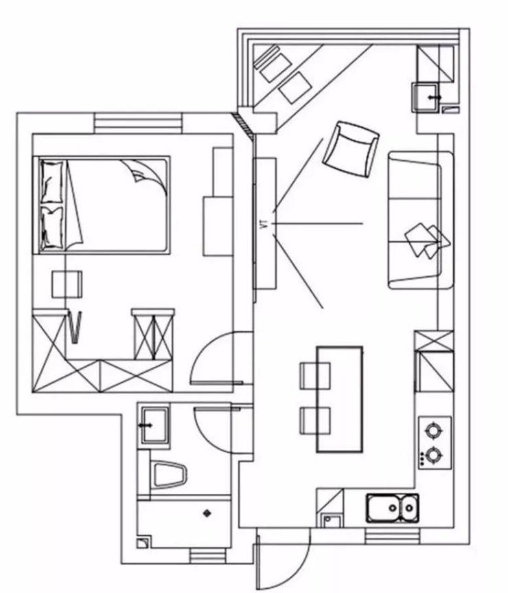 50�O的单身公寓这样设计,人见人爱!