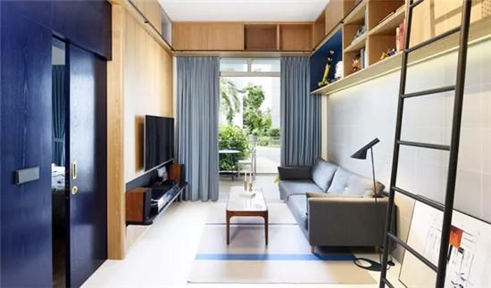 蓝色优雅气息,这样的家更好看!