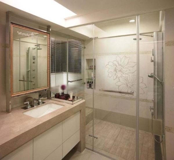 家庭洗手间装饰作用图