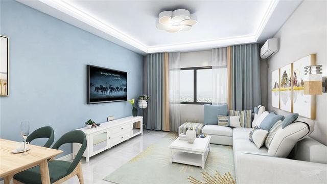 三室一厅现代简约风格装修效果图