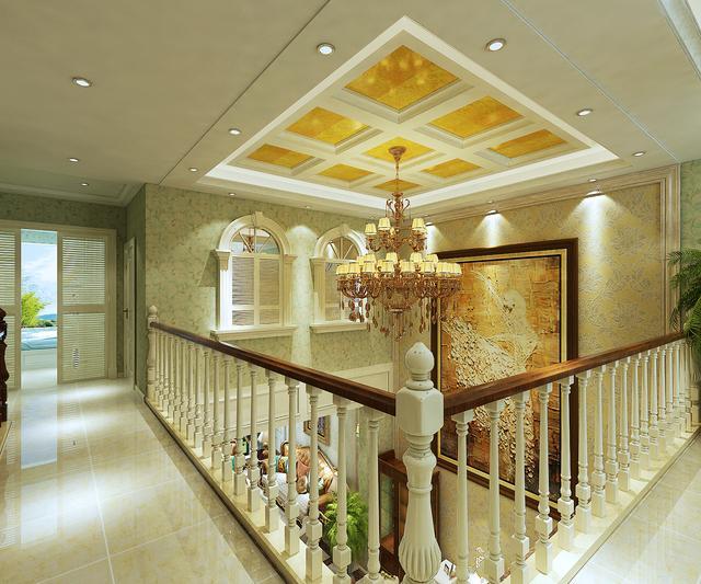 装修案例丨淄博紫园400�O欧式风格,客厅挑空入住后没让我失望